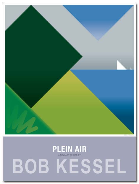 plein air poster big elm by bobkessel