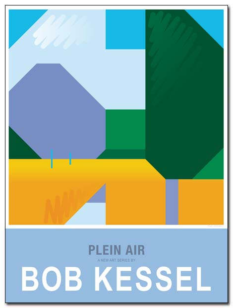 plein air poster canal by bobkessel