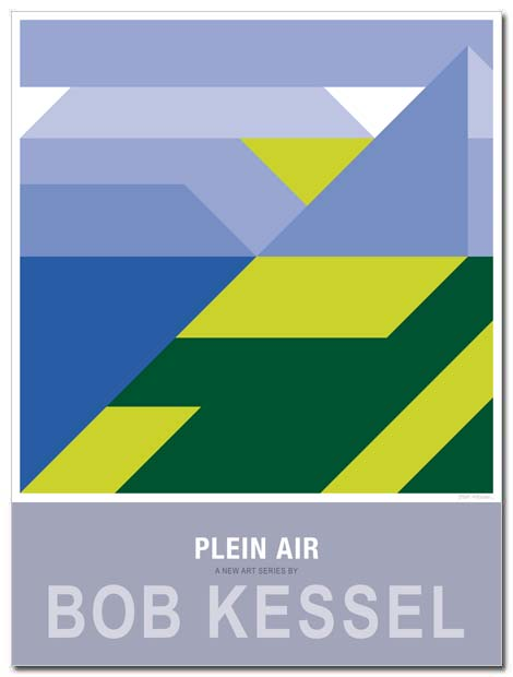 plein air poster lakefront by bobkessel