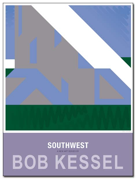 southwest poster half dome by bobkessel