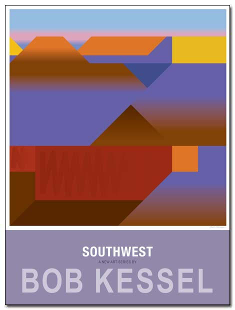 southwest poster red butte by bobkessel