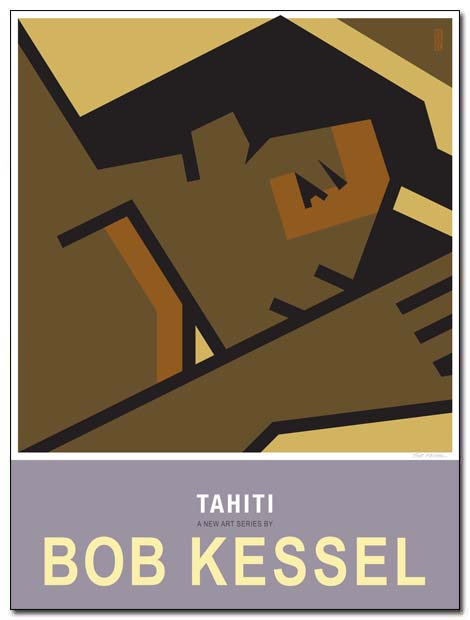 tahiti poster sleepy girl by bobkessel
