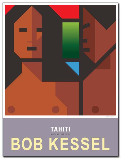 tahiti poster two girls by bobkessel