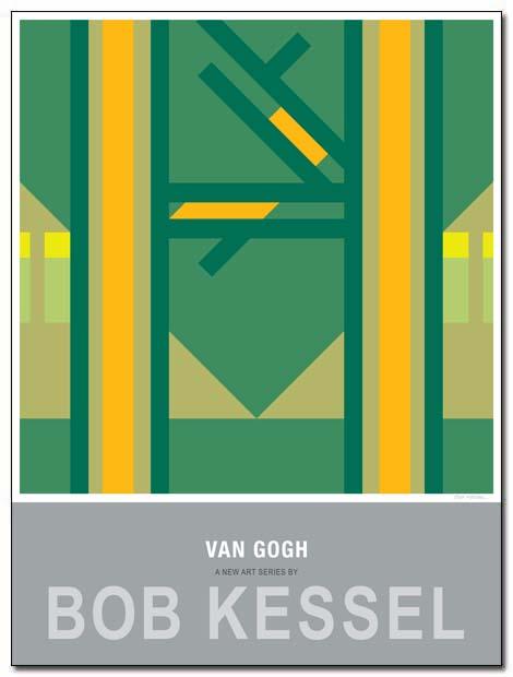 van gogh poster pines by bobkessel