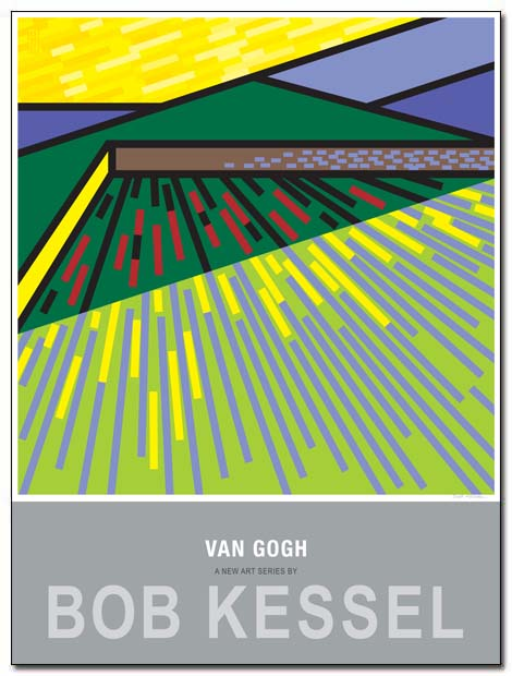 van gogh poster wheat field by bobkessel