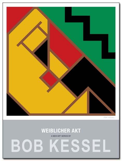 weiblicher akt poster schwarzen stumpfen by bobkessel