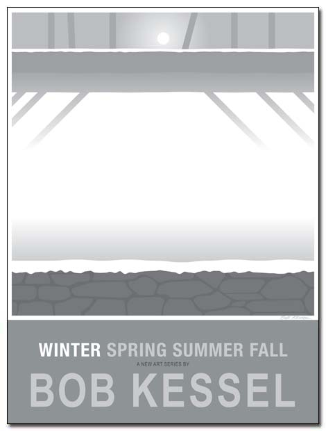 winter poster snow wall by bobkessel