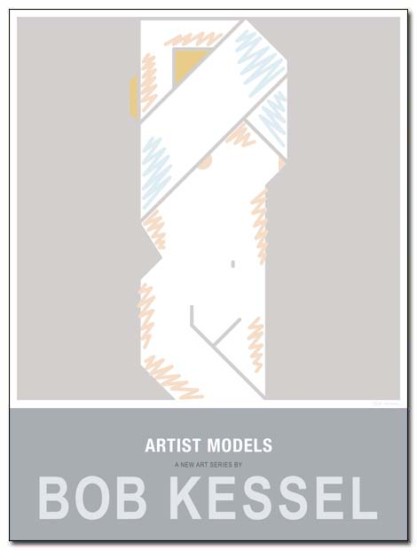 artist models poster shirt off by bobkessel