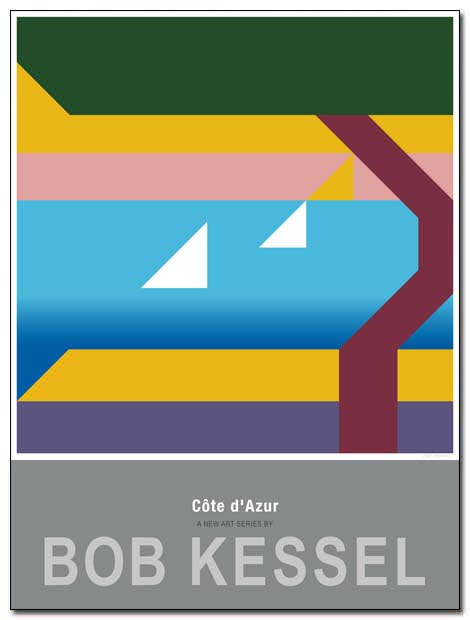 cote d'azur poster menton by bobkessel