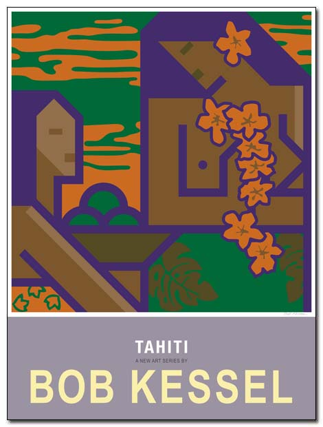 tahiti poster fruit basket by bobkessel