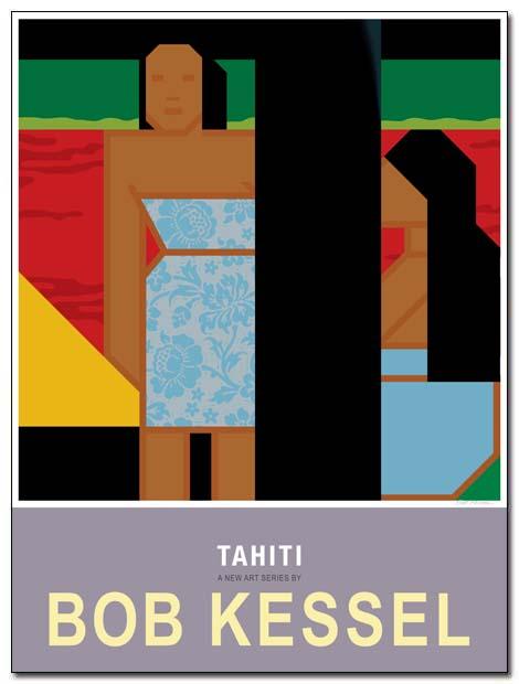 tahiti poster pastoral by bobkessel