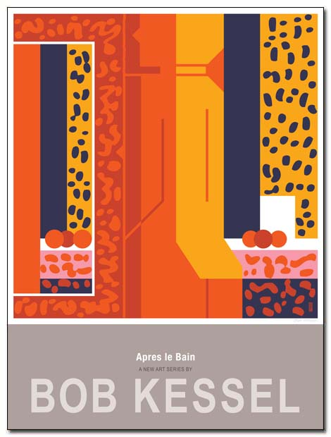 après le bain poster orange girl by bobkessel